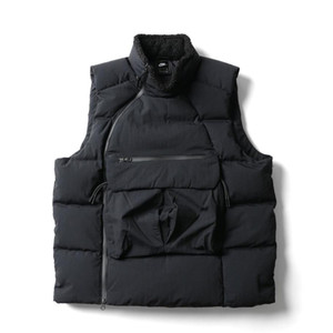 Gilet gros Hommes Down Sport Marque Designer Hiver chaud velours à col roulé veste de manteau Sideway Zip Sweat-shirt sans manches Top B101160L