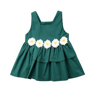 Enfants bébé fille fleur Princesse 3D Floral Party manches Pageant Tulle Tutu Robe Taille 0-3T