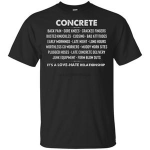 Concrete Love Hate rapporto concreto T-shirt Worker Black-Navy per gli uomini-donne