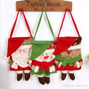 Fun Christma Candy Bags Kids Gifts Exquisite Xmas Party Decor For Home New Year Present Packet Santa Claus Home