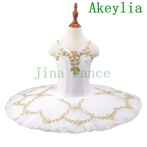 Pre-Professional Ballet Dance Tutu white gold Children blue pancake tutu Adult Ballerina Dance Tutu Dress Stage Costume