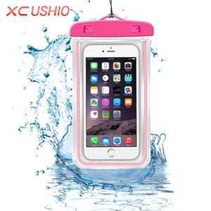 Al por mayor impermeable universal caja del teléfono de la bolsa del recorrido al aire libre a prueba de agua bolsa de almacenamiento de 6 / 6S P / 5 / 5S Samsung S3 / S4 / S5 Huawei G6 / P6