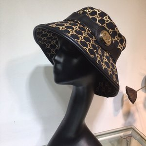 High quality Designer Bucket Hat Print women Travel Sun cap Wide Brim Floppy Sun Hat Summer caps for Women Sun Protection designer Hat
