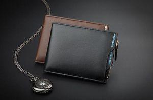 2019 Leather Mens Wallet 프리미엄 제품 남성용 짧은 카우 하이드 지갑 Short Black Walet Portefeuille Homme 짧은 지갑