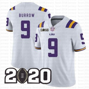 Joe Burrow mens LSU Tigers Jersey Clemson 16 Trevor Lawrence Travis Etienne Jr. NCAA pullover di football americano Julio Jones Tom Brady 2020