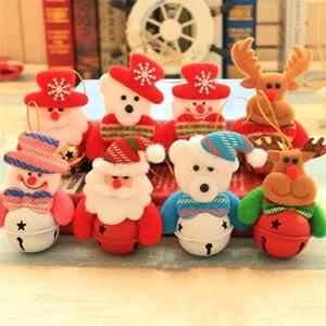 Нетканые Ткани Белл Подвеска Рождественские Украшения Елка Подвески Снеговик Санта-Клаус Куклы Фестиваль Плюшевые Куклы 1 8qy L1