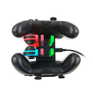 6 in 1 Nintend Schalter Schnellladestation LED-Lade Dock-Station für Nitendo Schalter Nintendoswitch 4 Joy-con 2 Pro-Controller