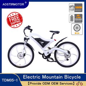 AOSTIRMOTOR Electric Mountain Bike Elektro-Fahrrad Beach Cruiser Bike 500W Ebike 48V 11.6ah Lithium-Batterie