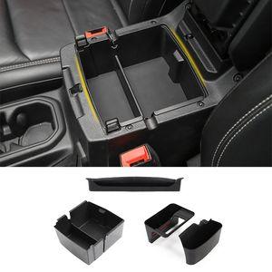 Black Car Copilot Armrest & Armrest Box   Shift Storage Box For Jeep Wrangler JL 2018+ Auto Internal Accessories