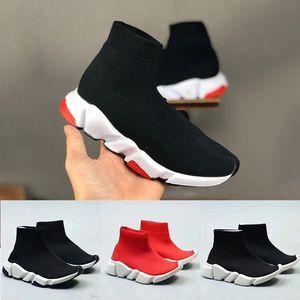 botas designer miúdos Speed Trainer sapatos meias Criança Rapazes Meninas meias Childrens juventude das sapatilhas triplos Black Kids vermelhos sapatos de grife 24-35