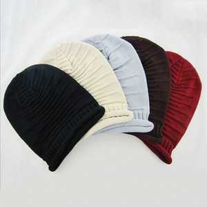 Uomini Donne Knit Teschio Cappello di inverno delle signore di lana Cappellino morbido elastico Berretti cappello di modo all'aperto caldo casuale lavorato a maglia sci Caps all'ingrosso DBC BH2695