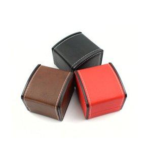 Hochwertige PU Uhrenbox Arc Form Ornamente Aufbewahrungskoffer Flip Over Uhren Paket Geschenkboxen 4 5xm L1
