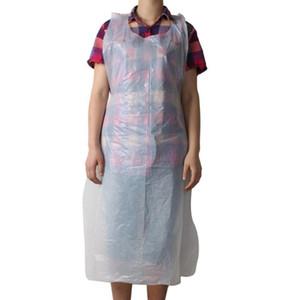 20pcs / set Weiß Einweg-Reinigungs Schürze Transparent Schürzen Easy Use Männer Küche für Frauen Kochschürze Küchen C2A9