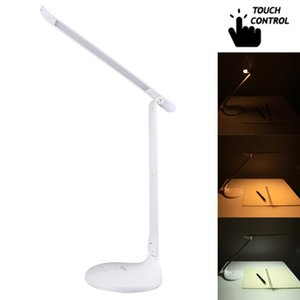 TGX-763 3-grade Brightness Touch Dimmer LED Desk Lamp, 52 LEDs 180 Degrees Adjustable Arm Eye Protection Light with Small Night Light Functi