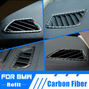 Carbon Fiber Car Interior AC Air Vent Outlet Trim Cover Frame For BMW 1 3 Series F20 F21 GT F30 F34 E90 E92
