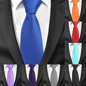New Solids for Men Casual Skinny Neck Gravatas Business Mens Neckties Corbatas 6 cm Width Neck Tie Set Ties Groom Tie For Party