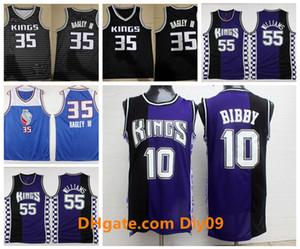 Vintage 10 Mike Bibby Authentic SacramentoKingThrowback Jersey Jason 55 Williams 35 Marvin Bagley III Basketball-Trikots