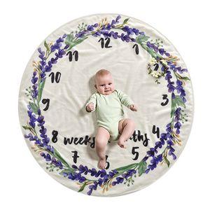 Início Eco-Friendly impresso da foto do bebê Decoração Blanket fundo 4 Estilos Cute Baby Milestone Rodada delicado Blanket DH0745 T03