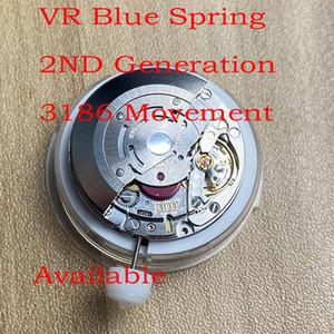 VR 3186 Движения Настройка даты по часовой стрелке второго поколения Синего Spring Fix для любой 3186 Движения Часы Оптовой Ритейл