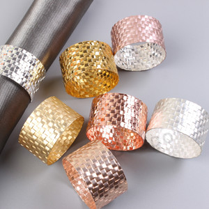 Gold Silver Napkin Rings Wedding Napkin Buckle For Wedding Party Banquet Table Decoration Supplies Metal Napkin Holders Wholesale DBC BH2741