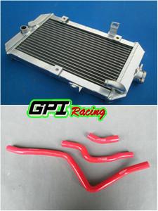 Alluminio del radiatore + tubo per ATV Yamaha Raptor 660 660R YFM 660 YFM660 oversize in alluminio del radiatore + TUBO GPI high-per