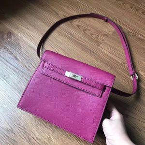 Lila Waist Taschen Modetaschen Rucksack Cowskin Echter Leder-Schulterbeutel Frauen-Dame Handbag freies Verschiffen der Fabrik 21X7X16cm