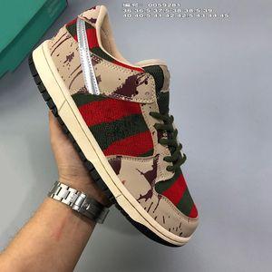 SB Dunk Low PRO Freddy Krueger Chaussures De Course Pour Hommes Femmes Dunks Casual planche à roulettes formateurs De Mode Designer Sport Sneakers size36-45