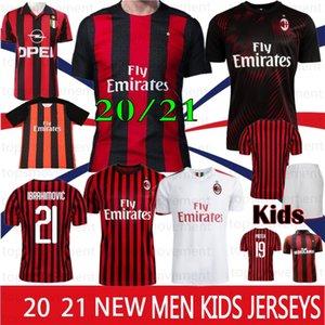 Thai AC Milan 20 21 New Jersey 2020 Football 2021 PIATEK Football Shirt Paqueta SUSO BONAVENTURA HIGUAIN Calhanoglu CALDARA Hommes Maillots