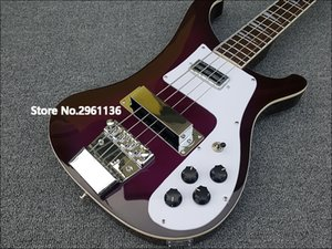 2019 High quality electric guitar, Ricken 4003-4 strings bass guitar,purple paint, free shipping