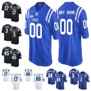 Duke Blue Devils Maillots T.J. Rahming Jersey Myles Hudzick Johnathan Lloyd Nicodem Pierre Aaron Young College Football Maillots point personnalisé