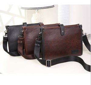 DHL 50pcs Satchel Bag Men PU Casual Cross Shaped Long Square Business Cross body Bag 3colors