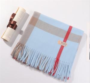 suave chal de dama clásica invierno de la cachemira bufanda y cómoda de cachemira bufanda a cuadros clásicos mantón largo borla 200 * 70cm
