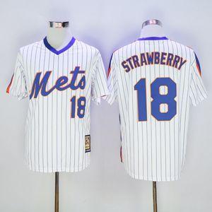 Atacado Homens Darryl Strawberry Jersey Mike Piazza # 30 Michael Conforto jérsei de basebol shirt costurado Top QualityL