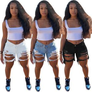 Kadınlar Yaz Şort Kot Yüksek Bel Casual Fermuar Fly 5309 Jeans High Street aşınma Kot Şort Moda Pantolon Pockets
