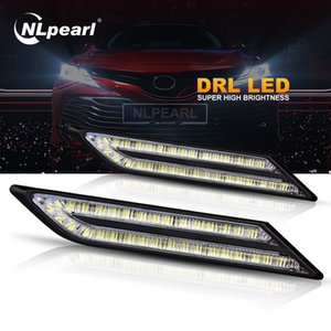 Nlpearl 2x Car 33 SMD Gündüz Işıklar Su geçirmez Süper parlak LED DRL Modülü Araç Işık Montaj Şekillendirme 12V açtı