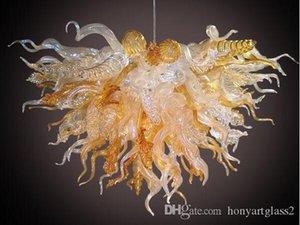 Золотой стеклянный светильник 900-1200lm домашнее освещение теплый белый и холодный белый светодиодное освещение энергосберегающая люстра Murano