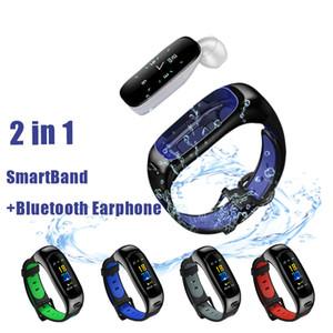 S1 banda banda inteligente e fone de ouvido dois em um bracelete inteligente Bluetooth chamada relógio esportivo pulseira inteligentes pulseira impermeável