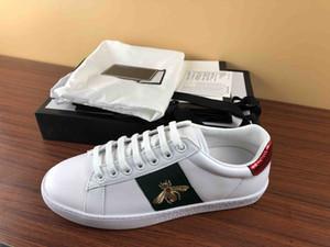 Original Box New Designer Hommes Chaussures Avec Top Qualité Femmes De Luxe Designer Sneaker Homme Casual Ace Chaussures Vert Rouge Rayure Taille 35-46