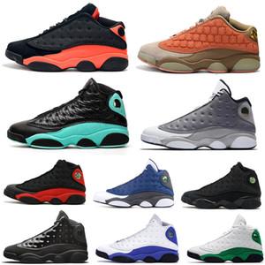 أفضل 13S الجودة ولدت أحذية الجزيرة الخضراء الرجال لكرة السلة 13 CLOT فلينت وأحذية لديك لعبة الرجال رياضة المرأة أحذية رياضية رجل حذاء