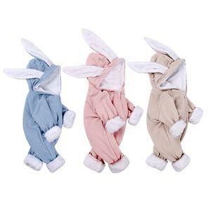 Bambino abbigliamento delle ragazze del ragazzo vestiti di cotone appena nati i pagliaccetti bambino infantile sveglio abbigliamento invernale nuovo nato 0-18M