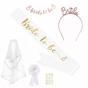 Bride To Be Satin Sash Bachelorette Party girls Hen Party Bridal Shower Kit Decoration Supplies