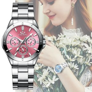 CHENXI 019A Women Fashion Luxury Watches Women's Quartz Wristwatches Ladies Luxury Rhinestone Dial Clock Waterproof Reloj Mujer