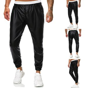Men Pants New Casual Leather Tactical Pants Simple And Handsome Solid Color Trousers pantalones Cargo Pants Men Streetwear NEW