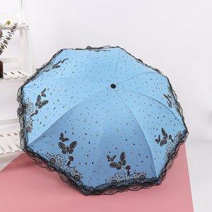 Plástico preto Umbrella Duplo propósito Umbrella Sombra Fan Anti-ultravioleta Encontro Umbrella Sun precoce Summerada