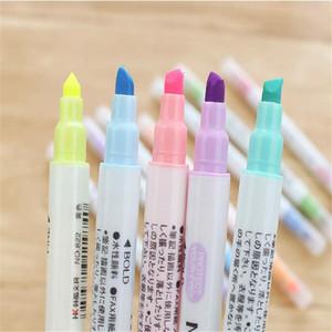 Tinta Escova Macarons Criativo 12 Cores Marcadores Canetas Marcadores de Alunos de Pintura Desenhar Bonito Caneta Aquarela venda Quente