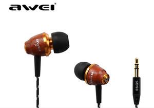 100% первоначально Awei ES-Q5 In-Ear Наушники Шум ляционной сверхглубоких Наушники-вкладыши 3,5 мм разъем для гарнитуры для смартфонов MP3 / MP4