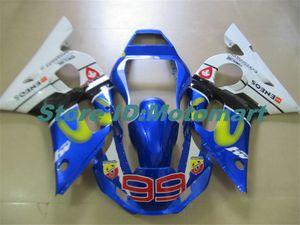 Kit carenatura del motociclo per YAMAHA YZFR6 98 99 00 01 02 YZF R6 1998 2002 YZF600 blu carenature Giallo set + regali YG29