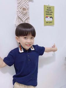 Verão para crianças roupas de algodão Crianças Meninos Collar Polo Tops Baby Boy Sprots Shirts lapela Odile tecido T Roupa Moda