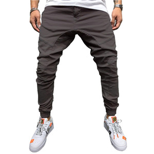 Mens Jogger Pants Casual Cotton Mens Fitness Sports Sweatpants Trousers Jogger Pants with 5 Colors Asian Size M-3XL