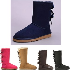 2020 크리스마스 NEW Designe Australia 클래식 베일리 스타일 여성 스노우 부츠 Winter High 3 Bowtie 키가 큰 스노우 부츠 GIRLS KIDS WINTER shoes